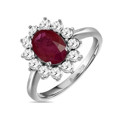 Кольцо с рубином R01-C-L-35022-MIX
