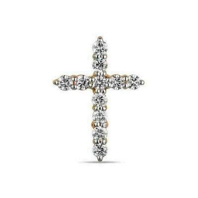 Крест с бриллиантами J01-D-33582