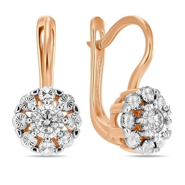 Серьги с бриллиантами E01-D-33756