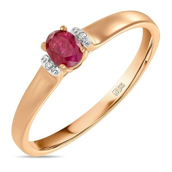 Кольцо с рубином R01-D-BS-0054-RU