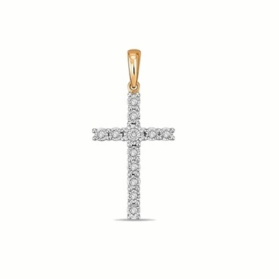 Крест с бриллиантами J01-D-PL-33591