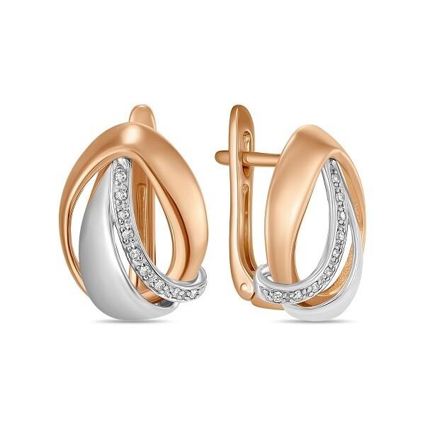 Серьги с бриллиантами E01-D-L-35327