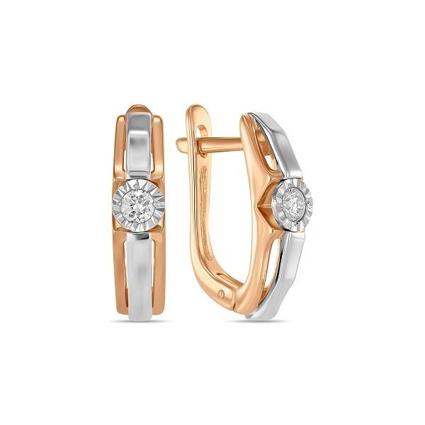 Серьги с бриллиантами E01-D-L-PL-35333