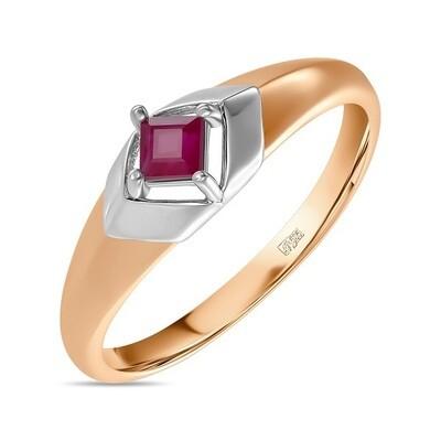 Кольцо с рубином R01-C-L-35419-RU