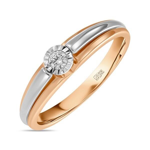 Кольцо с бриллиантом R01-D-L-PL-35329