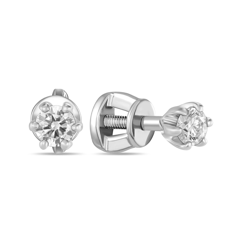 Серьги с выращенными бриллиантами E01-C-MLN149-020