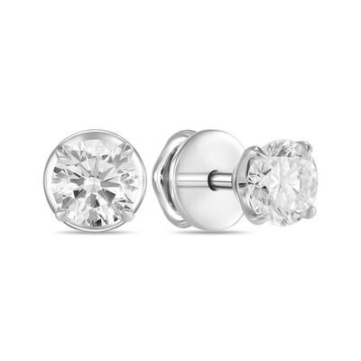 Серьги с выращенными бриллиантами E01-C-MLN35-100