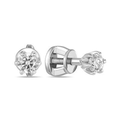 Серьги с выращенными бриллиантами E01-C-MLN149-010