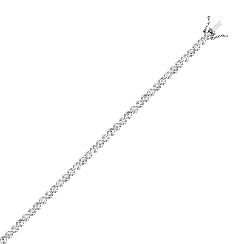 Браслет с выращенными бриллиантами B01-C-MLN-973