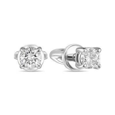 Серьги с выращенными бриллиантами E01-C-MLN162-020