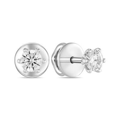 Серьги с выращенными бриллиантами E01-C-MLN149-050