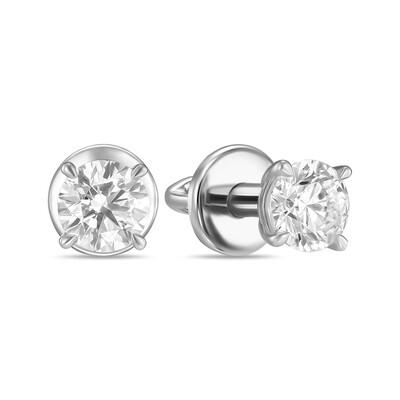 Серьги с выращенными бриллиантами E01-C-MLN191-100