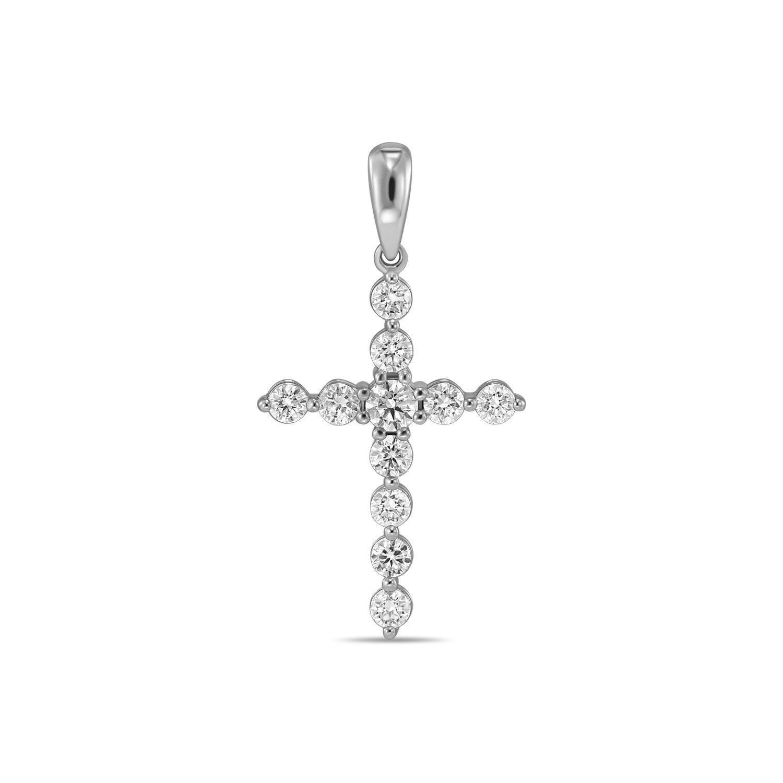 Крест с выращенными бриллиантами J01-C-L-MLN35727