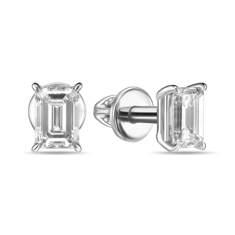Серьги с выращенными бриллиантами E01-C-MLN35619-EMR