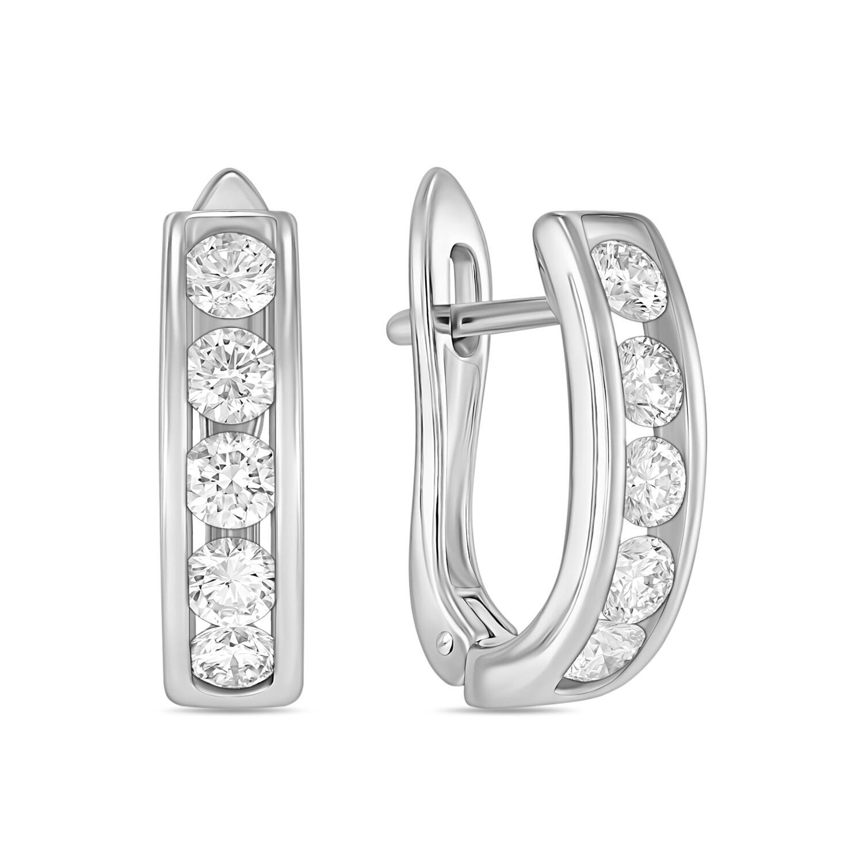 Серьги с выращенными бриллиантами E01-C-MLN35741