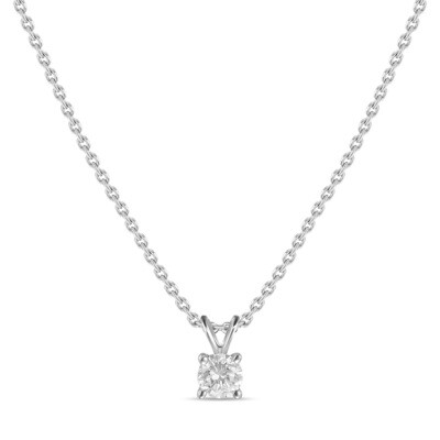 Колье с выращенными бриллиантами N01-C-MLN18-020