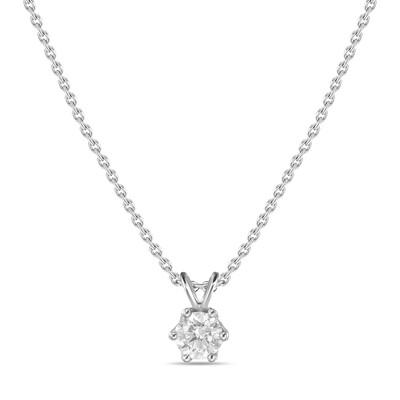 Колье с выращенными бриллиантами N01-C-MLN163-020