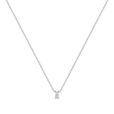 Колье с выращенными бриллиантами N01-C-MLN18-010