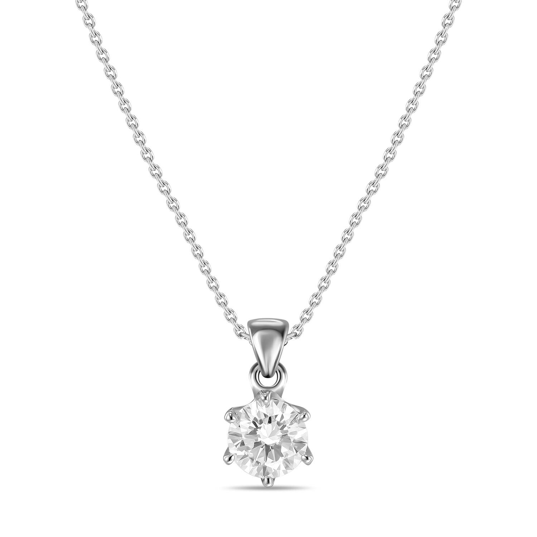Колье с выращенными бриллиантами N01-C-MLN40-090