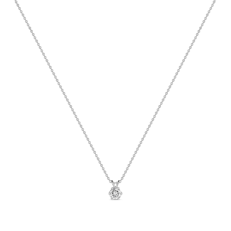 Колье с выращенными бриллиантами N01-C-MLN163-050