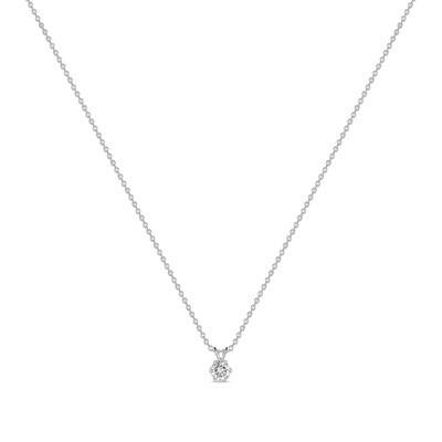 Колье с выращенными бриллиантами N01-C-MLN163-025