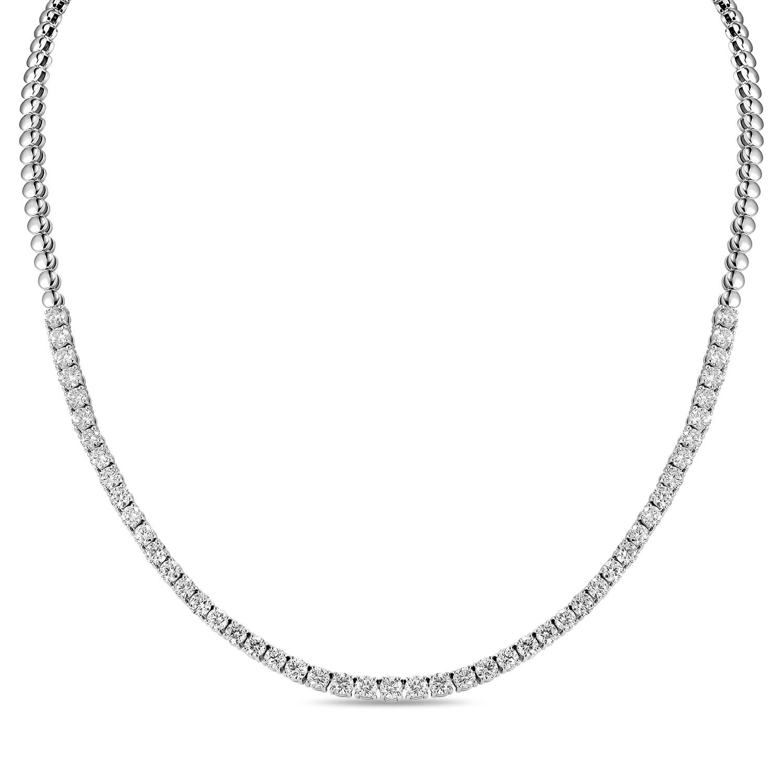 Колье с выращенными бриллиантами N01-C-MLN-027