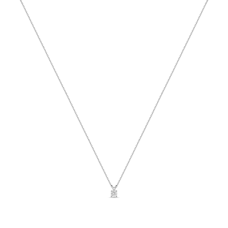 Колье с выращенными бриллиантами N01-C-MLN18-025