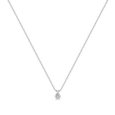 Колье с выращенными бриллиантами N01-C-MLN163-030