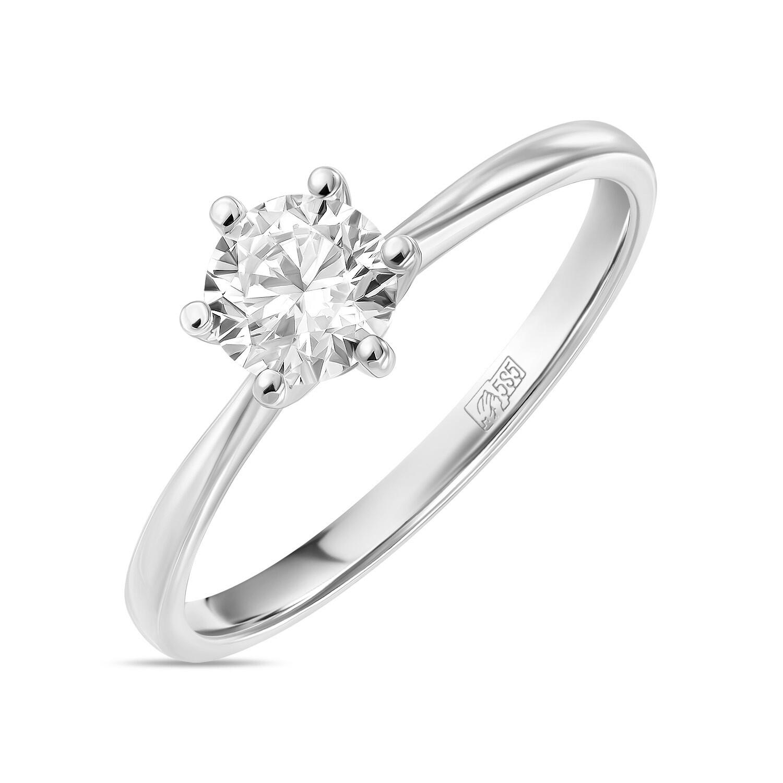 Кольцо с выращенным бриллиантом R01-C-L-MLN35708