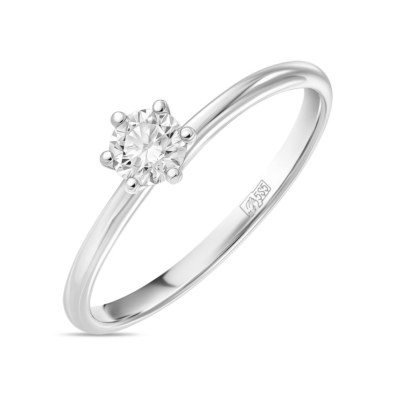 Кольцо с выращенным бриллиантом R01-C-L-MLN35710