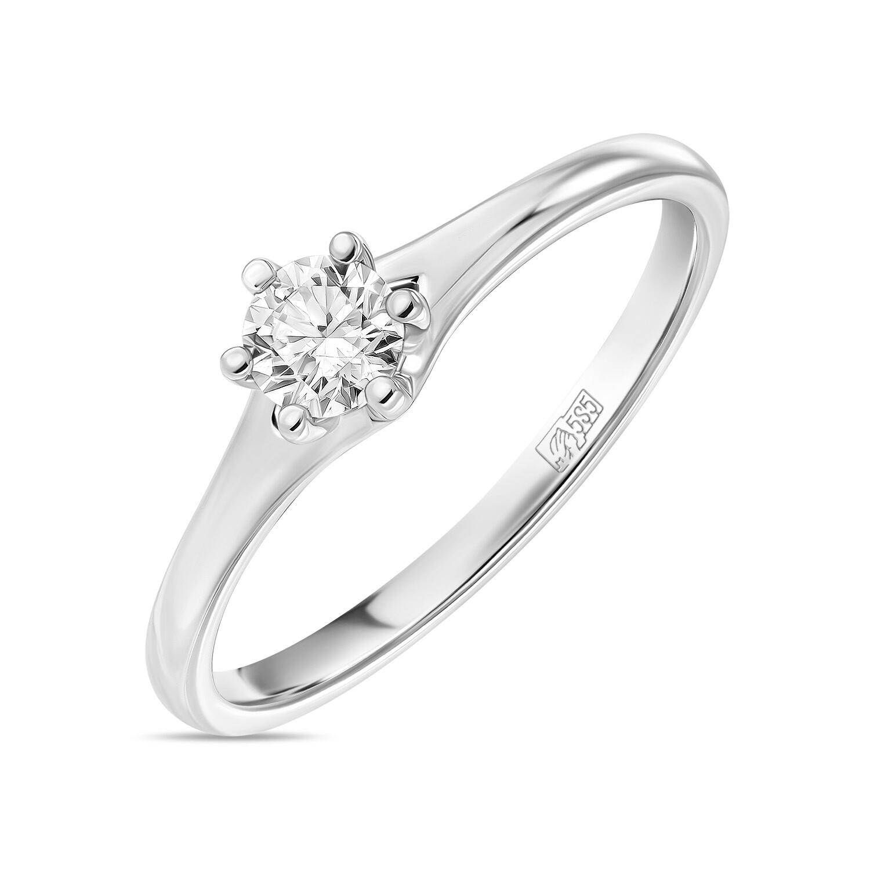 Кольцо с выращенным бриллиантом R01-C-L-MLN35713