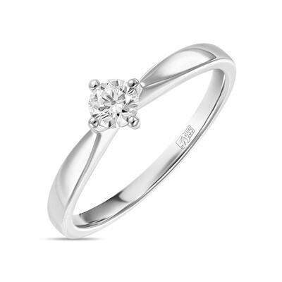 Кольцо с выращенным бриллиантом R01-C-L-MLN35720