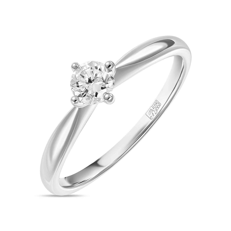 Кольцо с выращенным бриллиантом R01-C-L-MLN35719