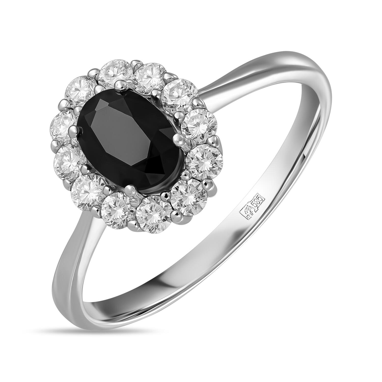 Кольцо с сапфиром и выращенными бриллиантами R01-C-L-MLN35723-BSA