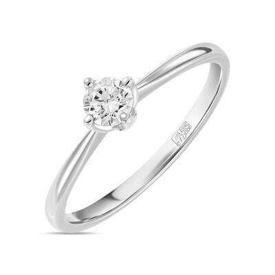 Кольцо с выращенным бриллиантом R01-C-L-MLN35722