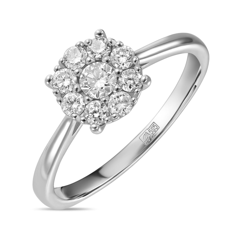 Кольцо с выращенными бриллиантами R01-C-L-MLN35726
