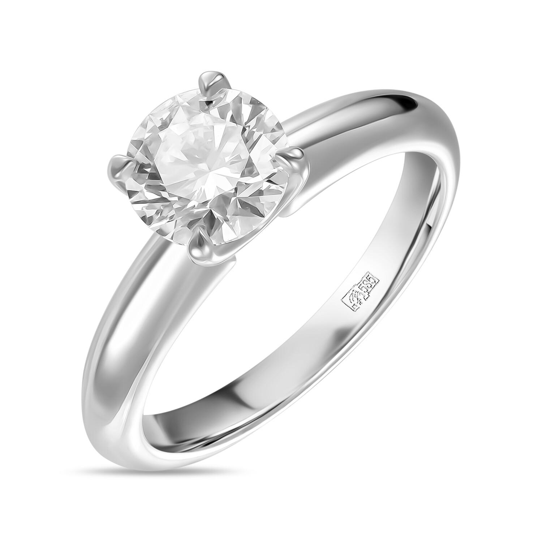 Кольцо с выращенным бриллиантом R01-C-MLN35-100