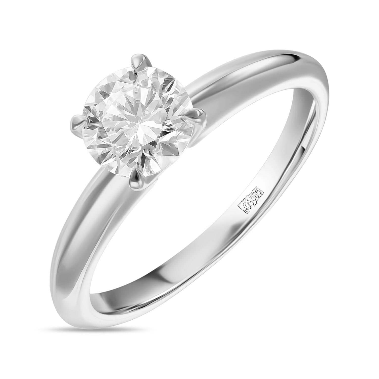 Кольцо с выращенным бриллиантом R01-C-MLN35-090