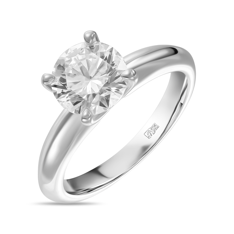 Кольцо с выращенным бриллиантом R01-C-MLN35-150