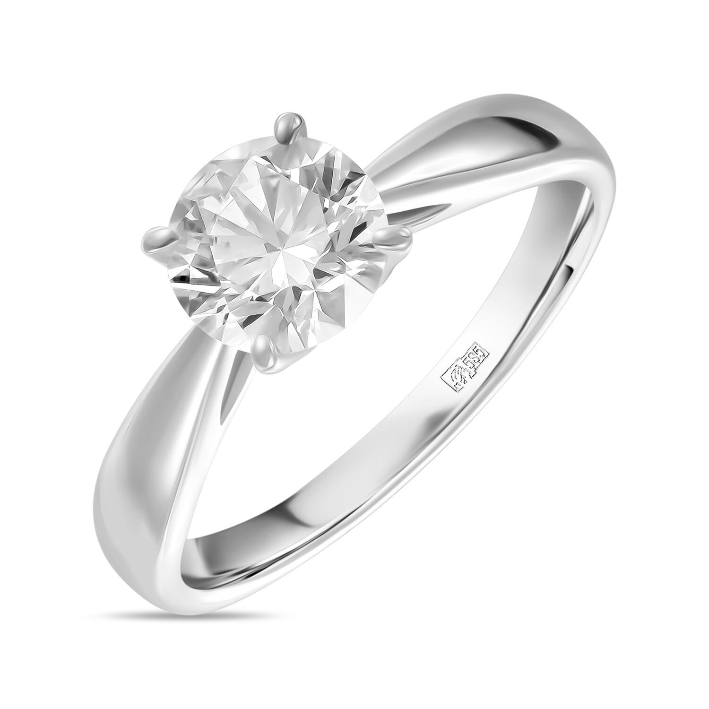 Кольцо с выращенным бриллиантом R01-C-MLN119-100