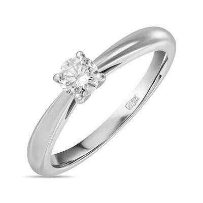 Кольцо с выращенным бриллиантом R01-C-MLN119-025