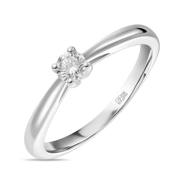 Кольцо с выращенным бриллиантом R01-C-MLN119-015
