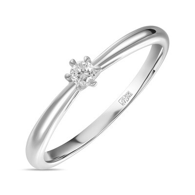 Кольцо с выращенным бриллиантом R01-C-MLN120-010