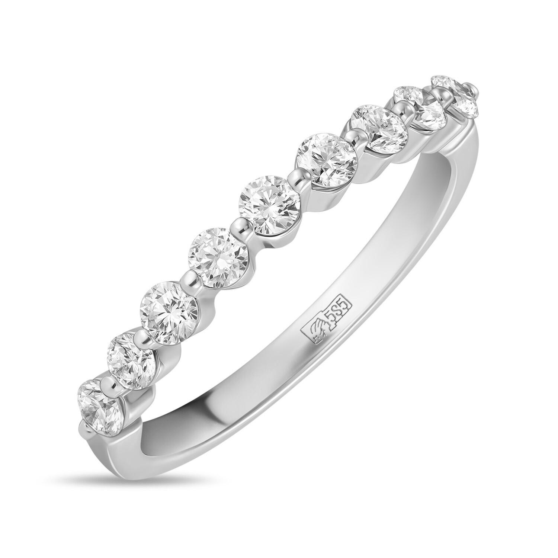 Кольцо с выращенными бриллиантами R01-C-MLN446-045