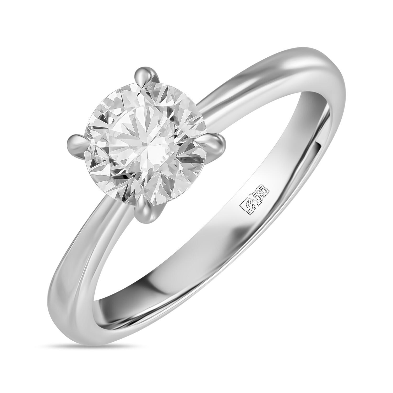 Кольцо с выращенным бриллиантом R01-C-MLN35292-100