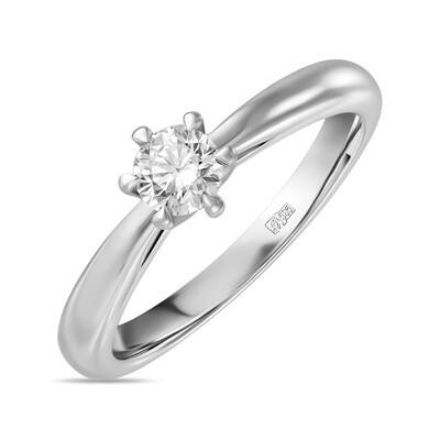 Кольцо с выращенным бриллиантом R01-C-MLN120-025