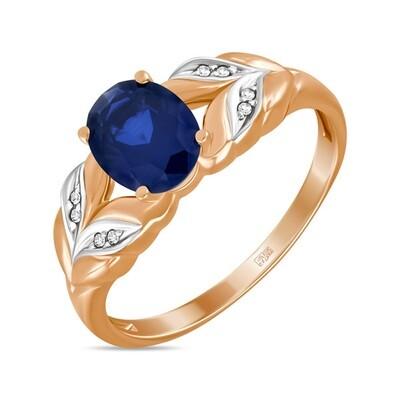 Кольцо с сапфиром и бриллиантами R01-D-L-33803-SS