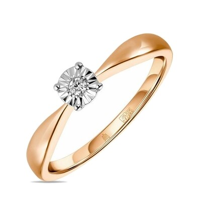 Кольцо с бриллиантом R01-D-L-PL-35017