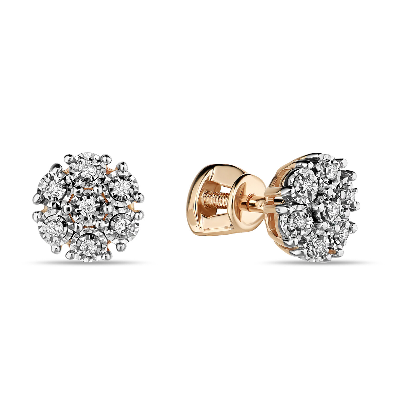 Серьги с бриллиантами E01-D-L-PL-35021