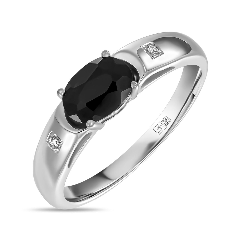 Кольцо с сапфиром и бриллиантами R01-D-L-35098-SA